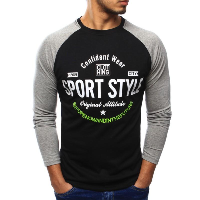 ab6251930d65a Predchádzajúci. Športové pánske tričko čiernej farby s dlhým rukávom ...