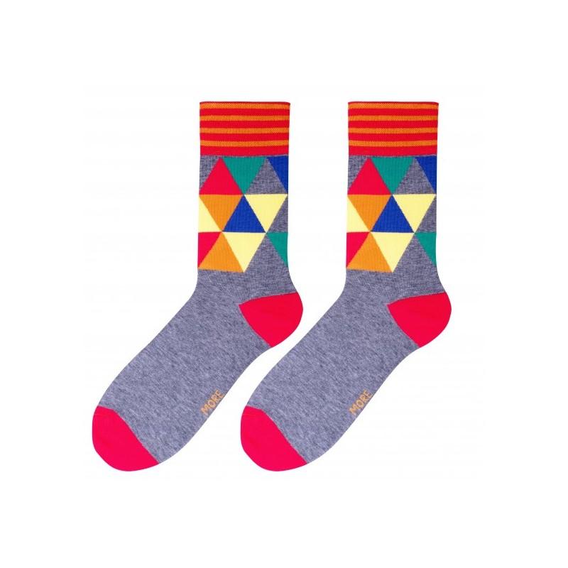 Pohodlné sivé pánske ponožky s farebnou mozaikou - fashionday.eu 37d3f14e93