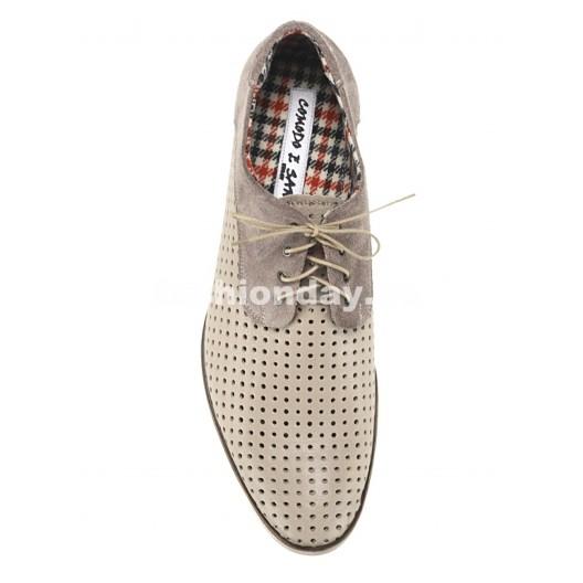 Pánske kožené topánky bežové PT138