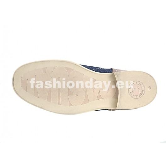 Pánske kožené topánky modré PT140