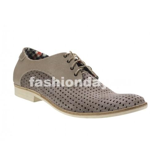 Pánske kožené topánky bežové PT141