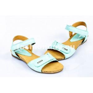 Dámske kožené sandále modré  DT080