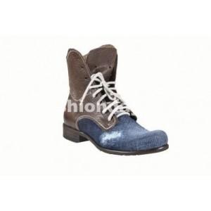 Pánske kožené topánky modro-hnedé