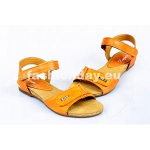 Dámske kožené sandále hnedé DT081