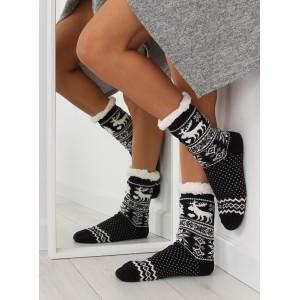 Moderné dámske čierno biele ponožky v škandinávskom štýle