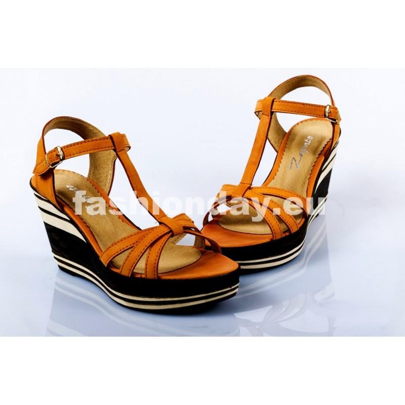 bfa01d1ed235 Dámske kožené sandále červené DT090 - fashionday.eu