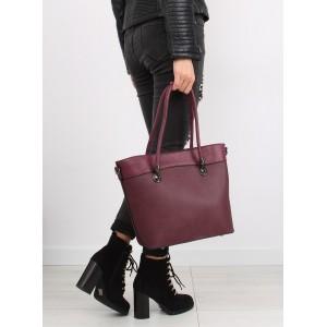 Elegantná dámska kabelka do ruky v bordovej farbe s bočným zipsom