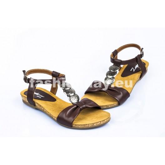 Dámske kožené sandále fialové DT099