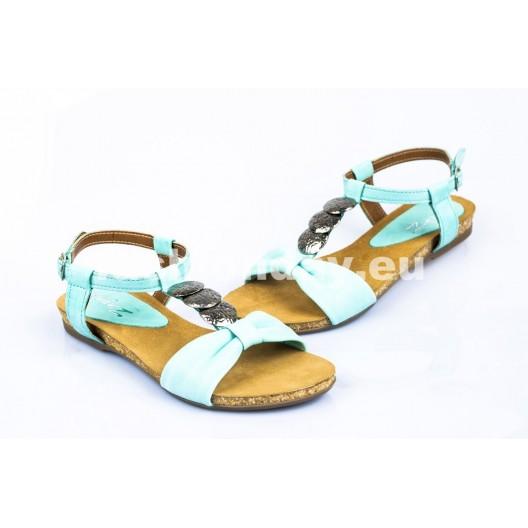 Dámske kožené sandále zelené DT100