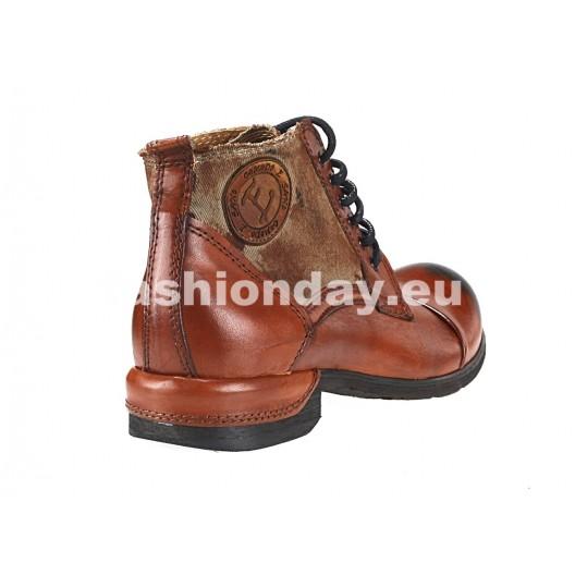 Pánske kožené topánky  oranžovo-hnede