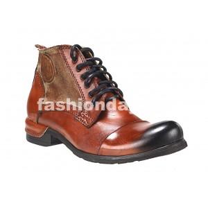Pánske kožené topánky oranžovo-hnedé