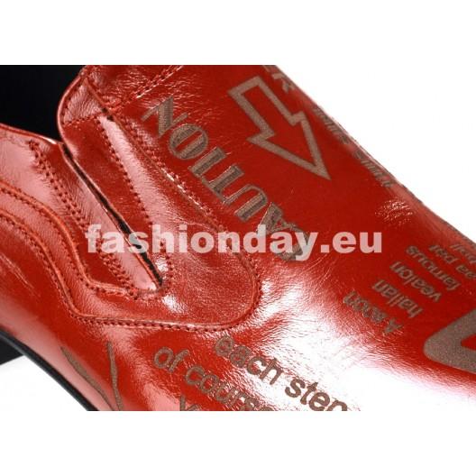 Pánske mokasíny červené ID: 508