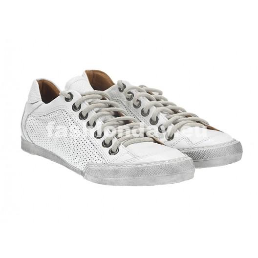 Pánske kožené športové topánky biele ID: 542