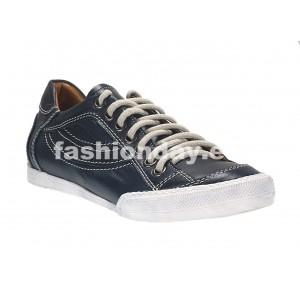 Pánske kožené športové topánky modré