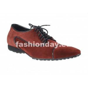 Pánske kožené športové topánky bordové