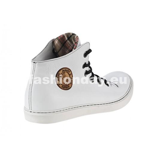 Pánske kožené športové topánky biele ID: 445