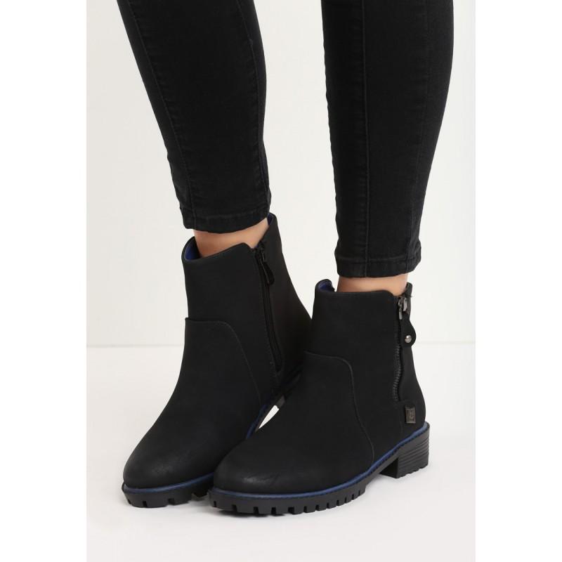 991bccbf2 Čierne dámske členkové topánky so zipsom na boku - fashionday.eu