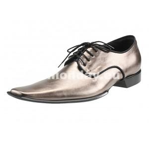 Pánske kožené extravagantné topánky zlaté