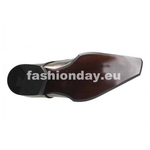 Pánske kožené extravagantné topánky  zlaté ID: 198