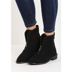 Pohodlné dámske čierne topánky so zipsom