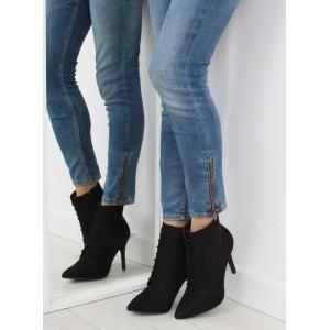 Elegantné čierne dámske topánky na podpätku