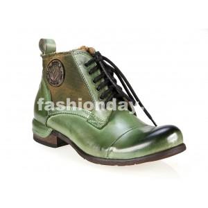 Pánske kožené topánky zelenej farby