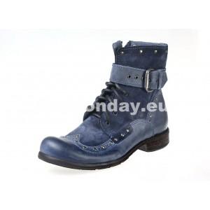 Pánske kožené topánky modrej farby