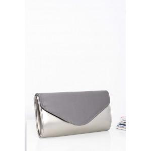 Strieborno sivá dámska večerná kabelka s retiazkovym ramienkom