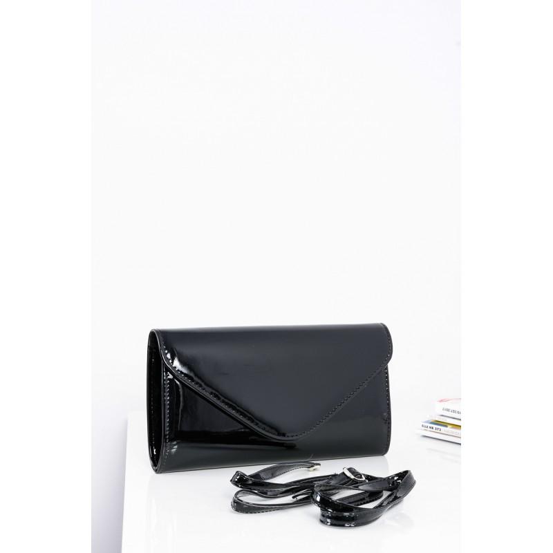 06b40fe3a1 Klasická dámska lakovaná kabelka čiernej farby s nastaviteľným ...
