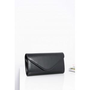 Matná večerná dámska kabelka v čiernej farbe s ramienkom