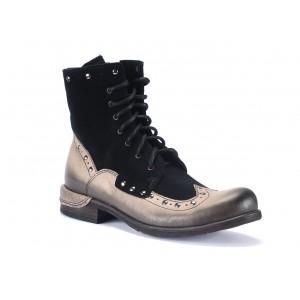 Kožené pánske kotníkové topánky v čiernej farbe COMODO E SANO