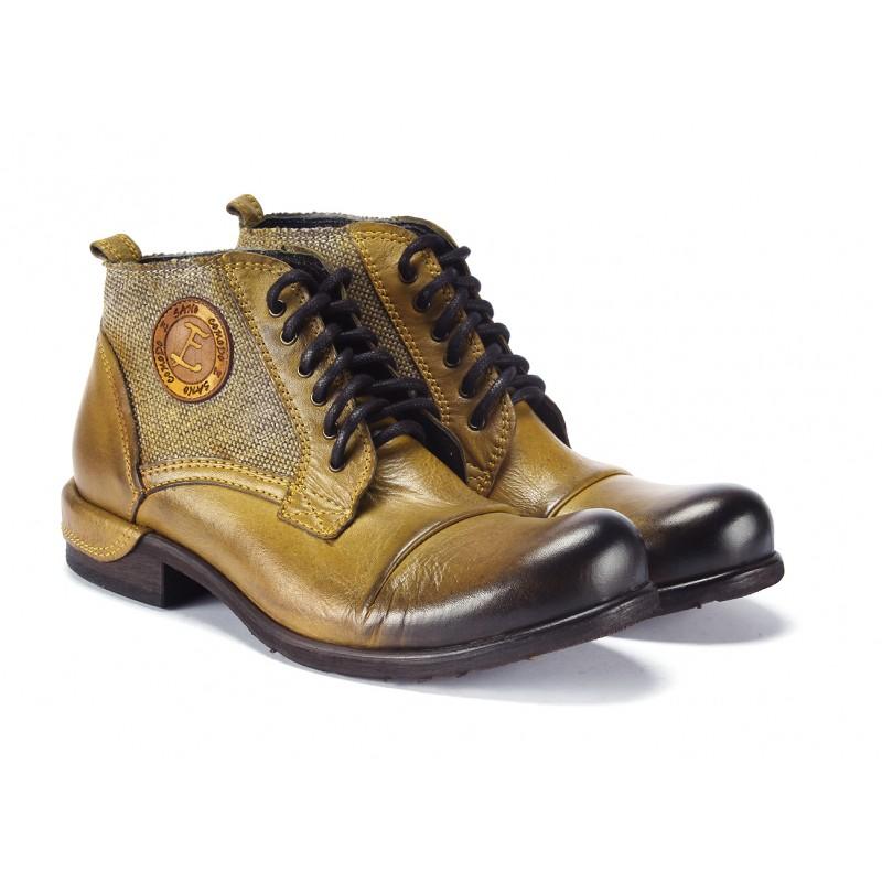 d8fac29ddd Žlté pánske kožené topánky COMODO E SANO na šnurovanie - fashionday.eu