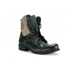 Vysoké pánske kožené topánky v zelenej farbe COMODO E SANO
