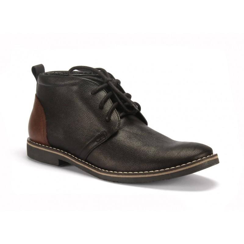 Čierné kožené pánske topánky COMODO E SANO na šnurovanie - fashionday.eu 437cc5c6c0e