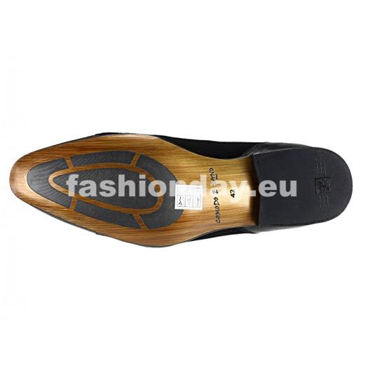 Pánske kožené spoločenské topánky čierne 539