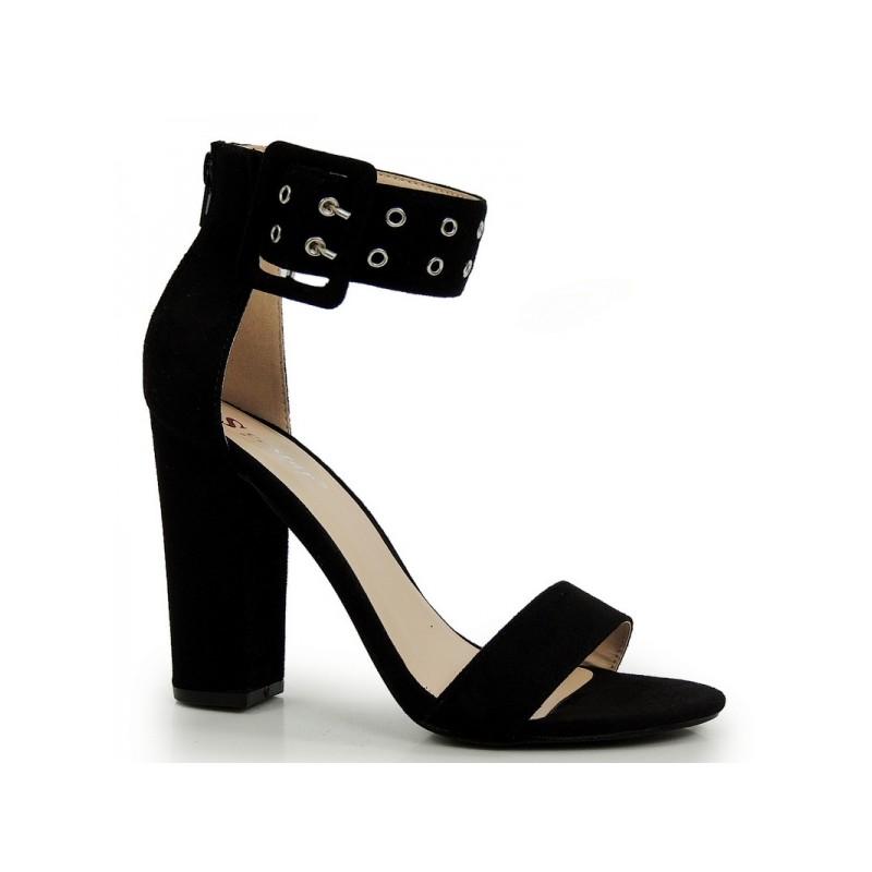 5fbbc200e Vkusné dámske sandále na vysokom podpätku čiernej farby - fashionday.eu