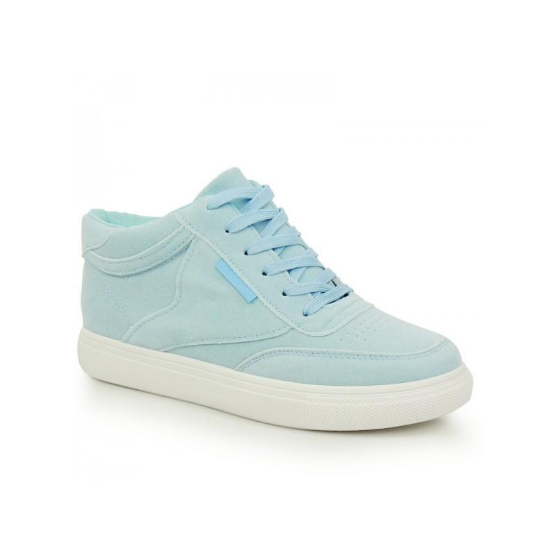 d586ac7b3e345 Svetlo modré dámske športové topánky na hrubej podrážke - fashionday.eu