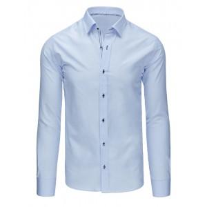 Bledomodrá pánska elegantná košeľa s dlhým rukávom