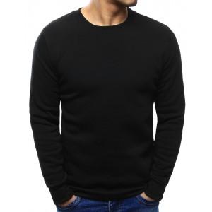 Jednoduchá pánska mikina s dlhým rukávom pre pánov čiernej farby