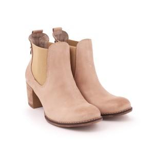 Elegantné kožené topánky pre dámy na vysokom  hrubom podpätku