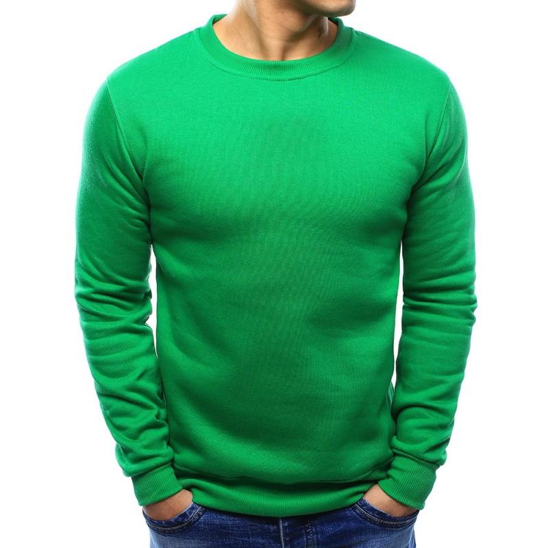 Pánske zelené mikiny bez kapucne na každú príležitosť - fashionday.eu 5b3e2c8da73