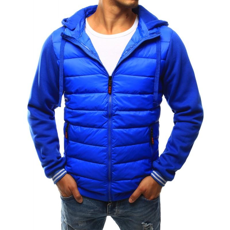 Športová modrá pánska prechodná bunda so zapínaním na zips ... c440e0ca708