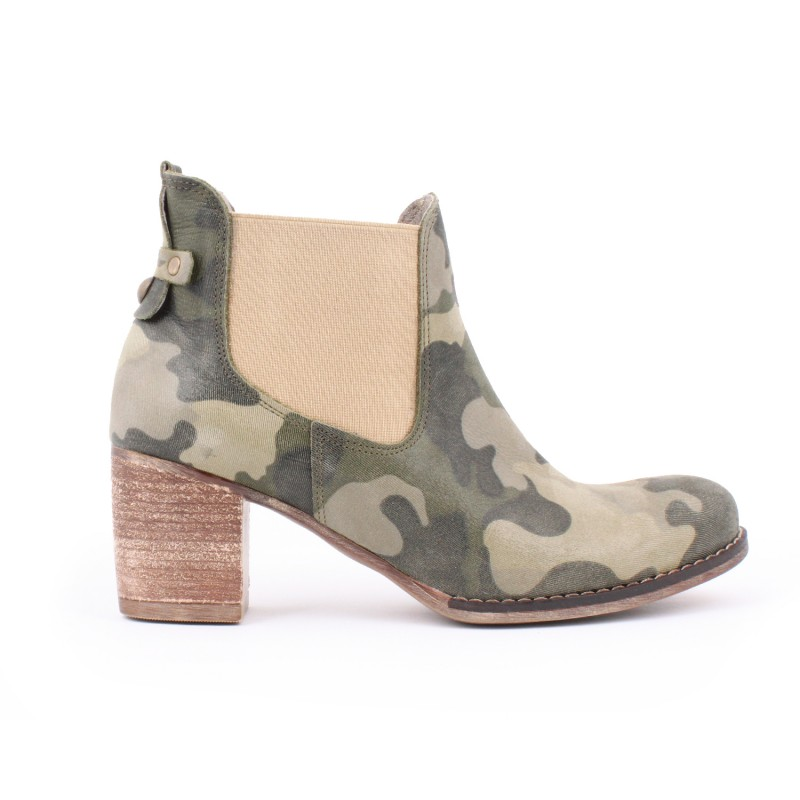 Moderné kožené topánky s maskáčovým vzorom pre dámy na vysokom podpätku   Moderné kožené topánky s maskáčovým ... 85897aae243