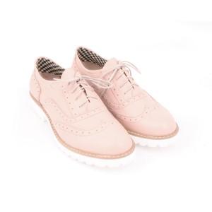 Moderné dámske poltopánky pre dámy na leto ružovej farby