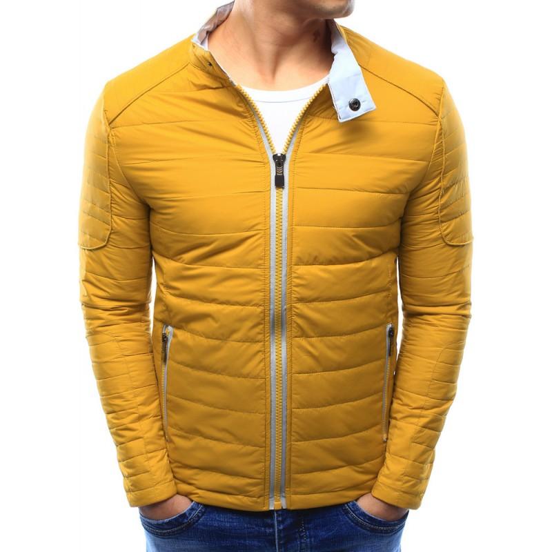 Predchádzajúci. Moderná pánska prechodná bunda žltej farby bez kapucne ... 4ccd45c9109
