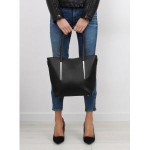 Moderné dámske kabelky do ruky aj cez plece čiernej farby