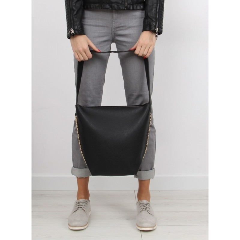 Čierna dámska kabelka do ruky aj cez rameno 2 v 1 - fashionday.eu bd9eac439c9