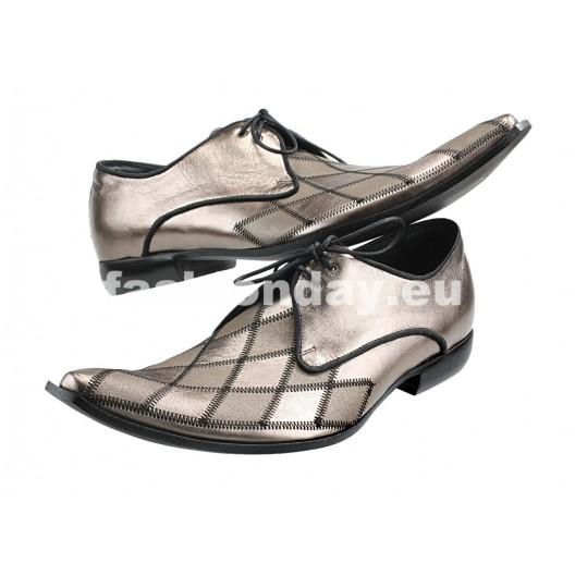 Pánske kožené extravagantné topánky ID: 197