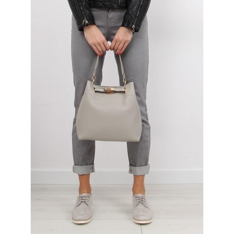2041bd46c Dámske stredne veľké kabelky do ruky aj cez rameno v sivej farbe s ...