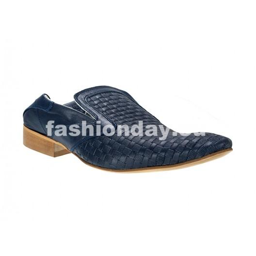 Pánske mokasíny tmavo modré ID: 549